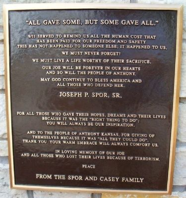 Spor and Casey Family Marker image. Click for full size.
