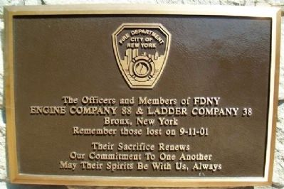 9-11 FDNY Marker image. Click for full size.