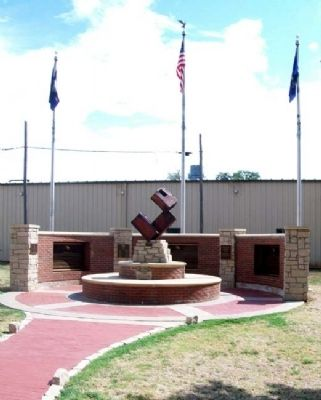 9-11 Memorial, Anthony, Kansas image. Click for full size.