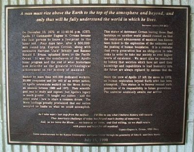 Man's Last Footsteps On The Moon Marker image. Click for full size.
