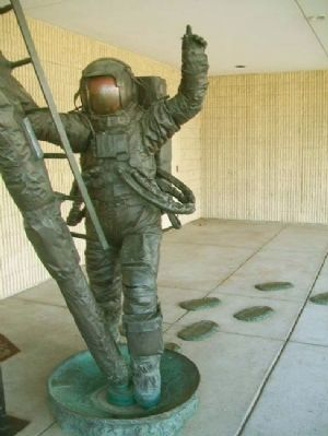 Man's Last Footsteps On The Moon Statue image. Click for full size.
