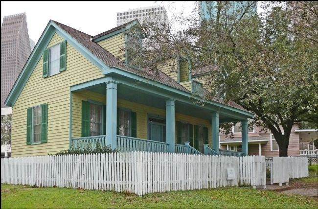 San Felipe Cottage in Sam Houston Park image. Click for full size.
