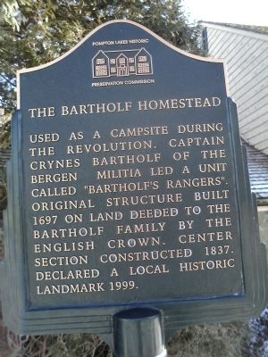 The Bartholf Homestead Marker image. Click for full size.