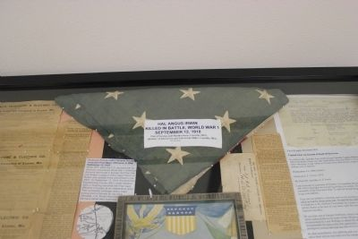 Casket flag for Hal A. Irwin image. Click for full size.