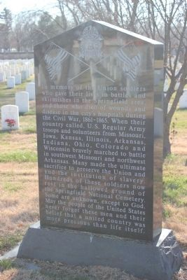 In Memory of Union Soldier (front) image. Click for full size.
