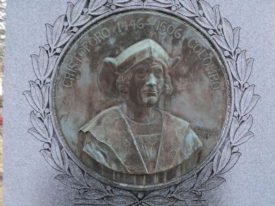 Closeup of Christopher Columbus Relief image. Click for full size.