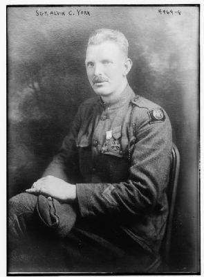 Sgt. Alvin C. York image. Click for full size.