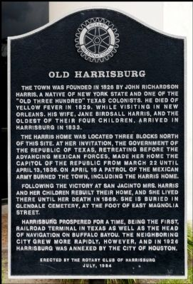 Old Harrisburg Marker image. Click for full size.