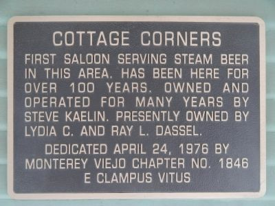Cottage Corners Marker image. Click for full size.