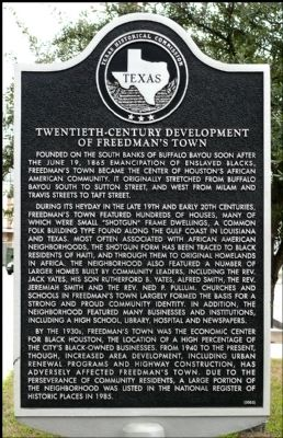 Twentieth Century Development of Freedman's Town Marker image. Click for full size.