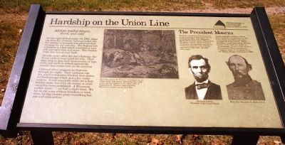 Hardship on the Union Line Marker image. Click for full size.