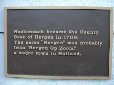 Hackensack Marker image. Click for full size.
