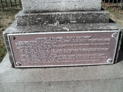 Archibald Campbell Family Monument Marker image. Click for full size.