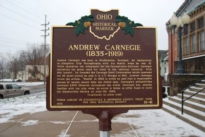 Andrew Carnegie (1835-1919) Marker image. Click for full size.