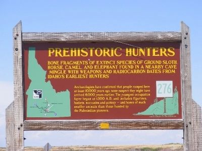 Prehistoric Hunters Marker image. Click for full size.