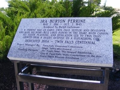 Ira Burton Perrine Memorial Marker image. Click for full size.