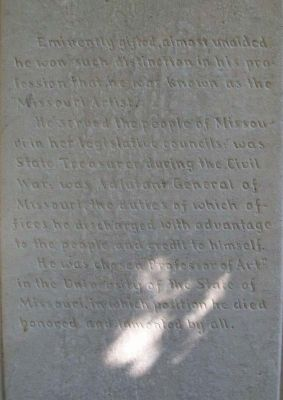 George Caleb Bingham Marker Text image. Click for full size.