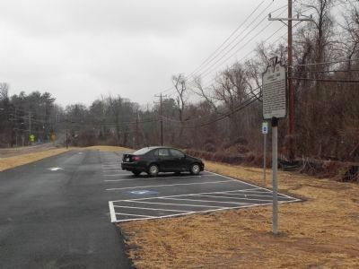 Langley Fork Marker showing new pull-off area along Georgetown Pike image. Click for full size.