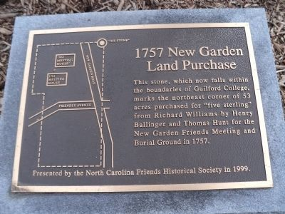 1757 New Garden Land Purchase Marker image. Click for full size.