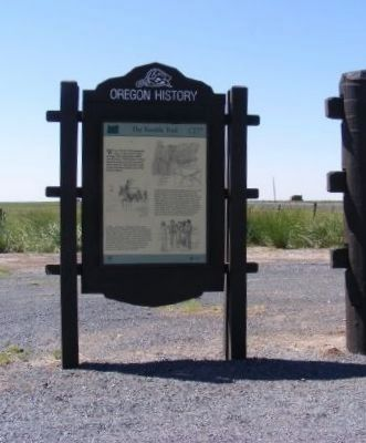 Oregon History Marker image. Click for full size.