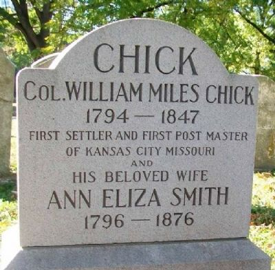 Col. William Miles Chick Marker image. Click for full size.