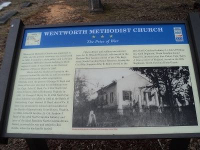 Wentworth Methodist Church Marker image. Click for full size.