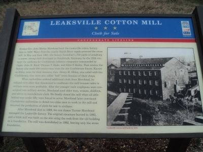 Leaksville Cotton Mill Marker image. Click for full size.