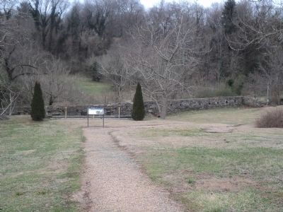 Marker in the Governor Morehead Park image. Click for full size.
