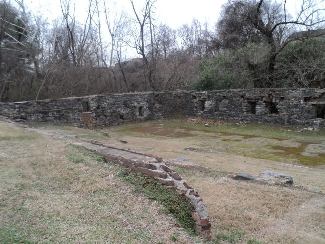Remains of the Leaksville Cotton Mill image. Click for full size.