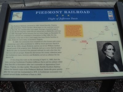 Piedmont Railroad Marker image. Click for full size.