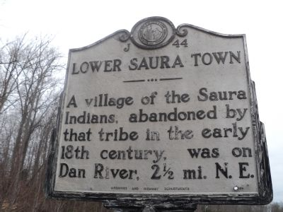 Lower Saura Town Marker image. Click for full size.