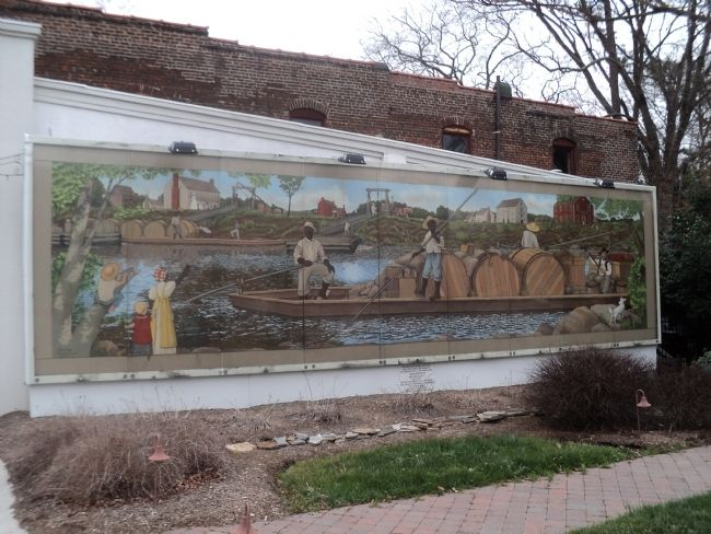 River boat Men Mural image. Click for full size.