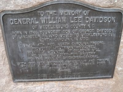 General William Lee Davidson Marker image. Click for full size.