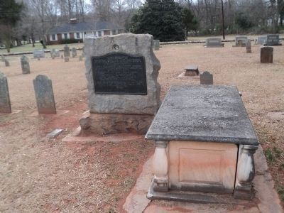 Marker in the Hopewell Presbyterian Church Cemetery image. Click for full size.