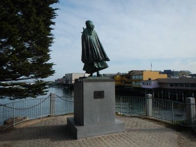 Santa Rosalia Statue Overlooking Monterey Harbor image. Click for full size.