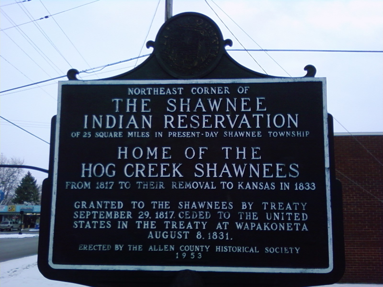 The Shawnee Indian Reservation Marker