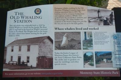 The Old Whaling Station Marker image. Click for full size.