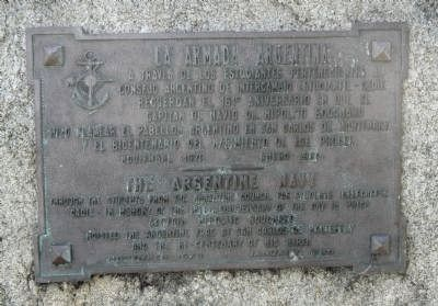 The Argentine Navy Marker image. Click for full size.