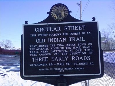 Circular Street Marker image. Click for full size.