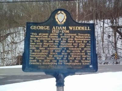 George Adam Weddell Marker image. Click for full size.