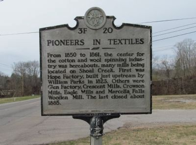 Pioneers in Textiles Marker image. Click for full size.