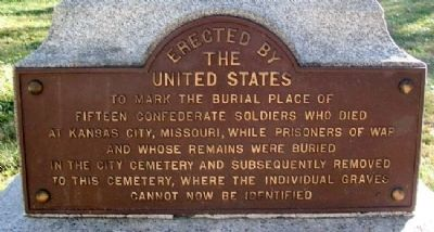 Burial Place of Fifteen Confederate Soldiers Marker image. Click for full size.