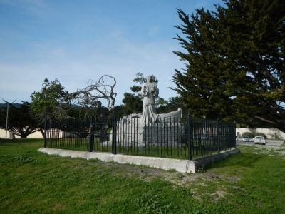 Here ... landed Very Rev. Father Junipero Serra Monument image. Click for full size.