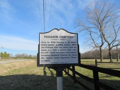 Frierson Cemetery Marker (side 1) image. Click for full size.