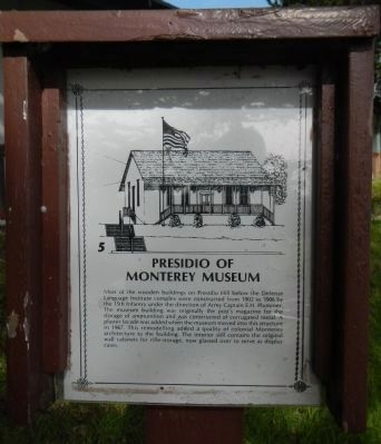 Presidio of Monterey Museum Marker image. Click for full size.