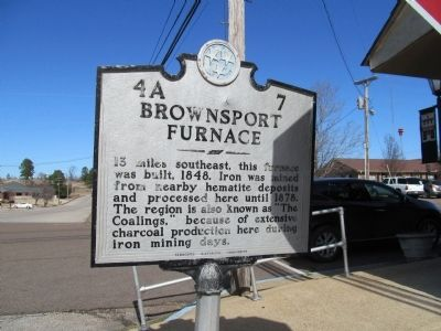 Brownsport Furnace Marker image. Click for full size.