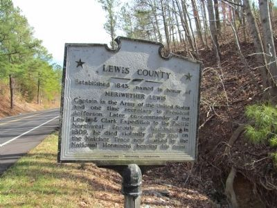 Lewis County Marker image. Click for full size.