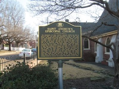 Saint Andrew's Episcopal Church Marker image. Click for full size.
