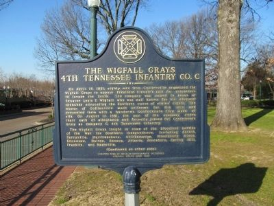 The Wigfall Grays Marker (side 1) image. Click for full size.