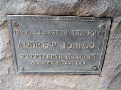 Andrew Johnson Birth Site Marker image. Click for full size.